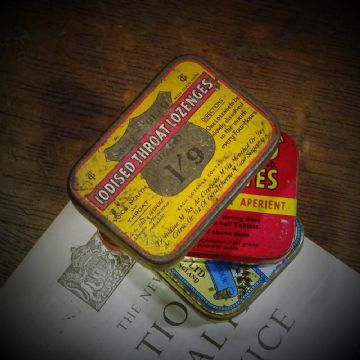 Three Vintage Medical Tins